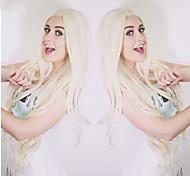 preço barato cosplay branco perucas sythetic onda longa