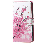 Plum Blossom Card Holder Leather Stand Case for Wiko Rainbow Jam