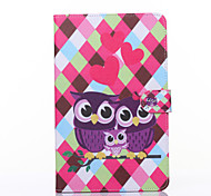 Love Owls Pattern PU Leather Full Body Case with Stand for Galaxy Tab E 9.6 T560
