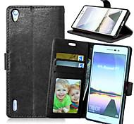 luxo pu aleta carteira de couro com moldura slot para cartão estar cobertura para huawei g7 / P7 / P8 / p8 Lite / Y500 / y625 / honra 6
