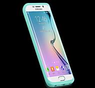 Para Funda Samsung Galaxy Transparente Funda Cuerpo Entero Funda Un Color Silicona Samsung S6 edge
