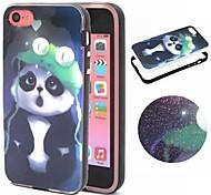 2-in-1 panda Muster TPU rückseitige Abdeckung + pc Autostoßfest Hülle für iphone 5c
