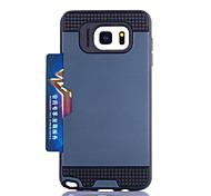 für Kartenhalter Samsung Galaxy Fall rückseitige Abdeckung Fall Rüstung pc Samsung Note 5 Note 4 Note 3