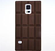 Silicón del chocolate 3d caso de la cubierta suave para i9600 Samsung Galaxy S5