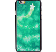 Christmas Style Green Star Track Pattern PC Hard Back Cover for iPhone 6 Plus
