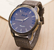 L.WEST Men's Digital Woven Belt Calendar Quartz Watch Wrist Watch Cool Watch Unique Watch