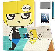 lexy® motif de garçon blond cas de stand PU cuir flip avec protecteur d'écran et un stylet pour iPad air 2 / ipad 6