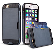 High Quality Snap-on PC + Silicone Insert The Card Hybrid Combo Armor Case Cover for iPhone 6 Plus