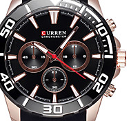 CURREN Brand Watches Men Waterproof Silicone Bands Luminous Hands Shock Casual Outdoor Sports Watch Boys Quartz