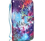 Star Pattern PU Leather Material Flip Card Phone Case for iPhone 5C