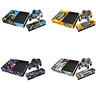 Vinyl Cover Skin Sticker for Xbox One Console & Kinect & 2 Controller Skins(Assorted Pattern)