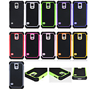 Hybrid Rugged Rubber Silicon+PC Shockproof 2 In 1 Hard Cover Cases For Samsung Galaxy S6 Edge Plus/S6 Edge/S6/S5/S4/S3