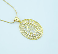 Pendants Metal Oval Shape As Picture 1