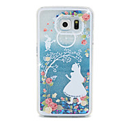 Christmas Princess Flow Sand PC Material Cell Phone Case for Samsung Galaxy S6/S6 edge