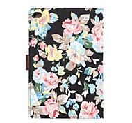 Tablet PC Flower Floral Flip Wallet Case Cover With Stand Holder Card Bag for iPad Air(Assored Colors)