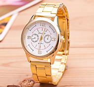 Masculino Relógio de Moda Quartzo Lega Banda Dourada Dourado