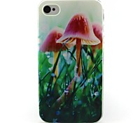 Mushroom Pattern TPU Case for iphone 4G/4S