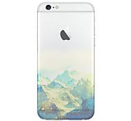 caso o material TPU telefone scenerypattern natural para iPhone 6 / 6s