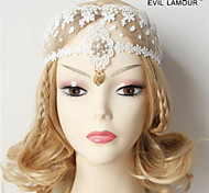Damen Spitzen / Stoff Kopfschmuck-Hochzeit Stirnbänder 1 Stück