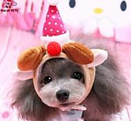 Cat / Dog Bandanas & Hats Red Winter Cosplay / Christmas
