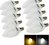 YouOKLight® 10PCS E14 3W 10*SMD2835 200LM 3000K/6000K Warm White /Cold White Light LED Candle Bulbs(AC 220V)