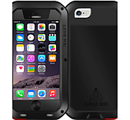 LOVEME Metal Waterproof Shockproof Resist Metal Armor Cover Case with Tempered Glass For Apple iPhone6 6s 4.7 Inch