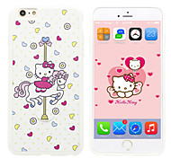 iPhone 5 Case Disney Hello Kitty Silicone Gel TPU Material case with a free Headfore HD Screen Protector for iPhone 5/5S