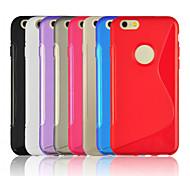"""ligne de Soft Slim couverture TPU cas de haute qualité trou rond design pour Apple iPhone 6 plus 6s iphone, plus 5.5 """"(blanc)"""