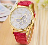 L.WEST Fashion High-end Diamonds Butterfly Quartz Watch