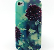 bloemenpatroon TPU case voor de iPhone 4G / 4s