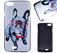 Glasses Dog Pattern PC Material Phone Case for Wiko LENNY
