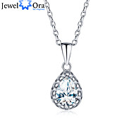 New Accessories Brand 925 Sterling Silver Women Fashion Cubic Zirconia Necklaces & Pendants