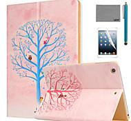 lexy® modèle d'arbre souhaitant PU cas de stand en cuir flip avec protecteur d'écran et un stylet pour iPad air 2 / ipad 6