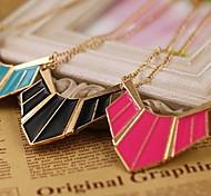 Geometric Pendant Chain Women Choker Necklace Jewelry