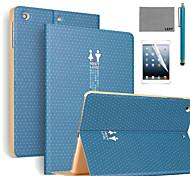 lexy® vous rencontrer motif cas de stand PU cuir flip avec protecteur d'écran et un stylet pour iPad air 2 / ipad 6