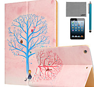 LEXY® Wishing Tree Pattern PU Leather Flip Stand Case with Screen Protector and Stylus for iPad Mini 4