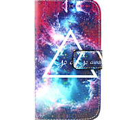 Starry sky Pattern PU Leather Case with Money Holder Card Slot for Wiko Lenny