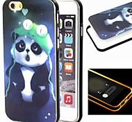 2-in-1 Pandamuster tpu rückseitige Abdeckung mit pc Autostoßfest Hülle für iPhone 6 Plus
