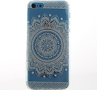 White Sunflower Style Transparent Soft TPU Back Cover for iPhone 5C