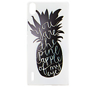 Pineapple Pattern TPU Material Back Cover for Huawei P7