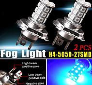 2x h4 hb2 9003 de ultra azul 5050 conduciendo la luz de niebla de células tri 27-SMD diurna