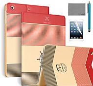 lexy® strip anker patroon pu lederen flip stand geval is met screen protector en stylus voor ipad air 2 / ipad 6