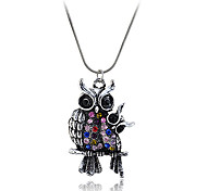 Necklace Pendant Necklaces Jewelry Party / Daily / Casual Fashion Crystal / Alloy Silver 1pc Gift