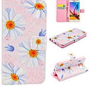 PU Leather Pink Flower for Galaxy S5/S6/S6Edge/S6Edge Plus
