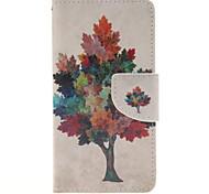 многоцветный рисунок дерева PU кожаный чехол для всего тела с слот для карт и стоять на Samsung Galaxy a3