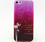 Pink Dandelion Pattern TPU Soft Phone Case for iPhone 5C