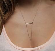 Women Fashion Triangle Pendant Chain Necklace Jewelry