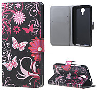 Butterfly Flowers Wallet Leather Stand Case for BLU Life X8