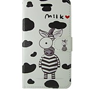 Milk Zebra PU Leather Full Body Case with Stand For Samsung Galaxy S3/S4/S3MINI/S4MINI/S5/S5MINI