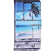 janela pintada caso de telefone pu para iphone6 / 6s